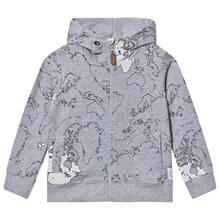 Rebus sweat jkt Maps allover grey122 cm