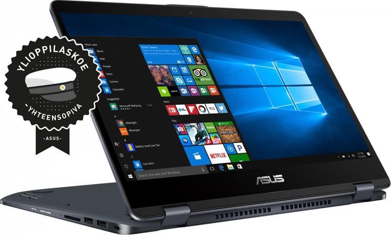 """Asus TP410UA-EC339T (Core i3-7100U, 8 GB, 128 GB SSD, 14"""", Win 10), kannettava tietokone"""