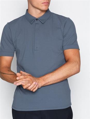 Filippa K M. Pique Poloshirt S/S Pikeepaidat Blue