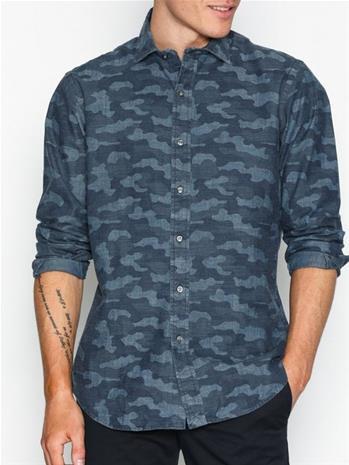 Polo Ralph Lauren Chambray Sport Shirt Kauluspaidat Blue