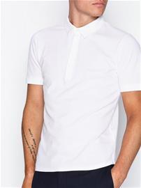 Filippa K M. Pique Poloshirt S/S Pikeepaidat White