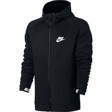 Nike Huppari NSW Advance 15 FZ - Musta/Valkoinen
