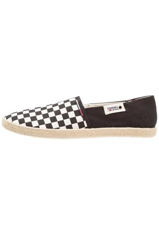 Tommy Jeans CHECK SLIP ON SHOE Espadrillot black/white