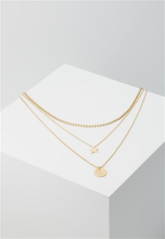 Rebecca Minkoff MEDALLION LAYERED DELICATE NECKLACE Kaulakoru goldcoloured