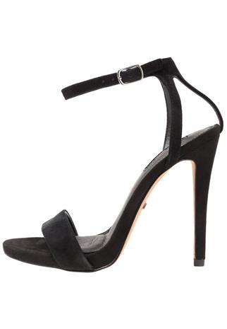 Topshop Wide Fit WIDE FIT RAPTURE Korolliset sandaalit black