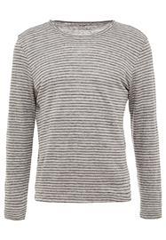 Club Monaco LINEN STRIPE CREW Pitkähihainen paita grey