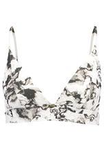 Calvin Klein Swimwear LONG LINE TRIANGLE MARBLE Bikiniyläosa white