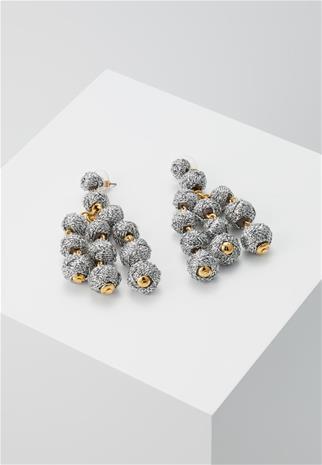 J.CREW KNOT CHANDELIER EARRINGS Korvakorut metallic silvercoloured