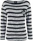 Fearless Illustration X Marks The Spot Naisten pitkähihainen paita musta-harmaa