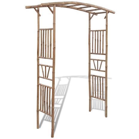 vidaXL Ruusukaari bambu 145x40x187 cm