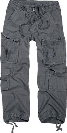 Brandit Pure Vintage Trousers Housut kivihiilenharmaa