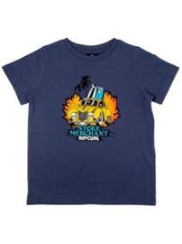Rip Curl Arty Groms T-Shirt Boys blue indigo Jätkät