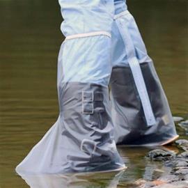Korkea PVC-suoja kengille 40cm - Sininen, XXL