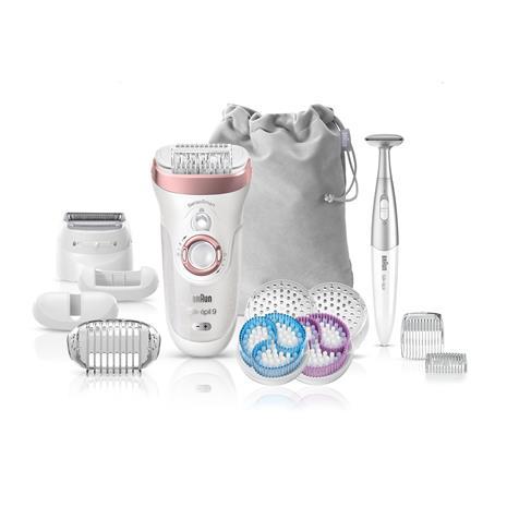 Braun Silk-épil 9 SkinSpa SensoSmart 9/980, epilaattori-ihonhoitolaite + 13 lisäosaa
