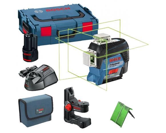Bosch GLL 3-80 CG Professional (0601063T00) 12V 1x2,0Ah L-BOXX, linjalaser + yleispidin BM1