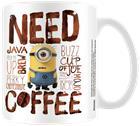 Minions Minions - Need Coffee Muki valkoinen