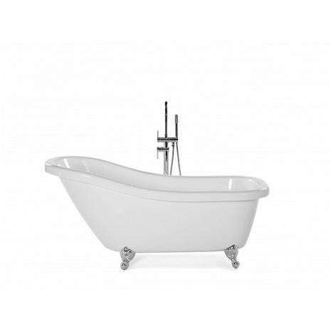 Beliani Valkoinen vapaasti seisova kylpyamme - CAYMAN