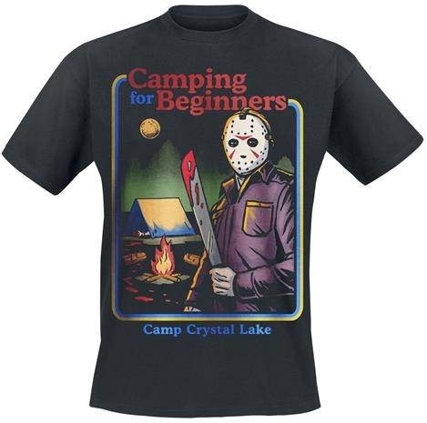 Friday The 13th Camping For Beginners T-paita musta