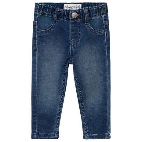 Blue Mid Wash Pull Up Jeans6 months