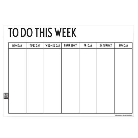 Design Letters Weekly Planner, viikkokalenteri