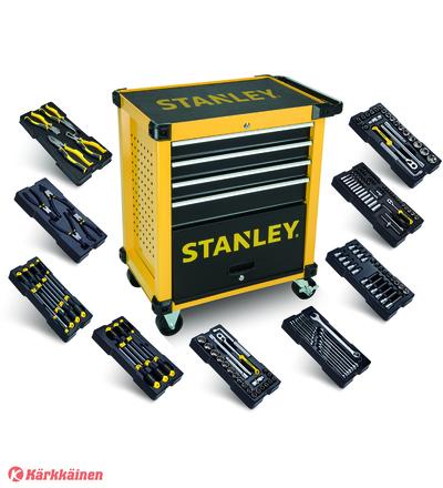 Stanley STHT0-80442 169-osainen työkaluvaunu työkaluilla