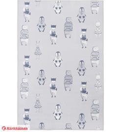 4Living Lempieläimet-matto, 100 x 150 cm, harmaa