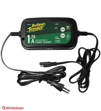 Battery Tender Plus 6V / 12V 1,25A lyijy / lithium akkulaturi