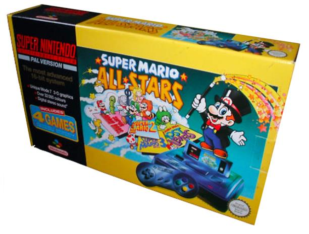 Super Nintendo Entertainment System, pelikonsoli + peli