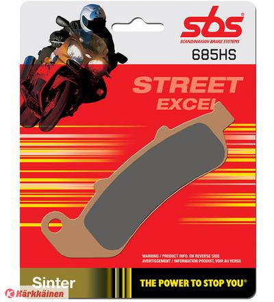 SBS 23-685HS Sintered Honda CBR1000F eteen jarrupalat