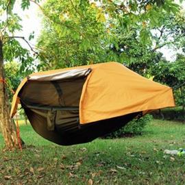 Riippumatto-teltta hyttysverkolla & sadesuojalla - Vihreä