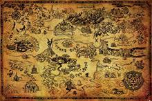 The Legend Of Zelda Hyrule Map Juliste monivärinen