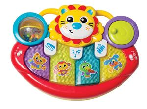 Playgro - Jerrys Class - Lion Activity Kick Toy Piano