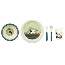 Blafre, Childrens dinnerware in Bamboo, Puffin