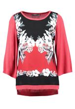 Oasis HAVANA PLACEMENT SLEEVE FRONT Neule coral
