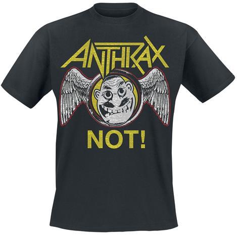 Anthrax Not Wings T-paita musta