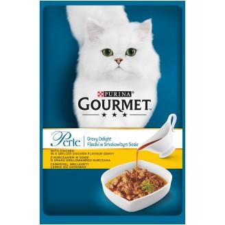 Gourmet Perle Kissanruoka 85 g Gravy Delight Kanaa kastikkeessa