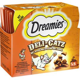 Dreamies Kissanherkku Deli-Catz 5 x 5 g Kana