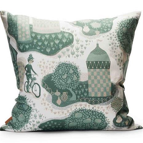 Decoration cushion 50x50cm Jardin de la vie whiteblue