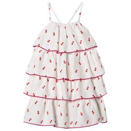 White Tiny Ice Lollies Tiered Dress5 years