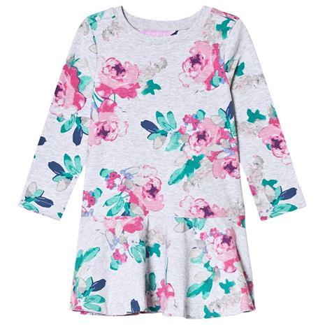 Grey Marl Rose Print Jersey Trapeze Skirt Dress2 years