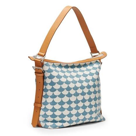 Small Messenger bag Waves Bluegray