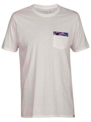 Hurley Floral Pocket T-Shirt sail Miehet
