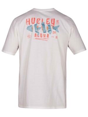 Hurley Plate Lunch Pocket T-Shirt white Miehet
