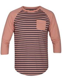 Hurley Gunwhale 3/4 Crew T-Shirt LS rust pink Miehet