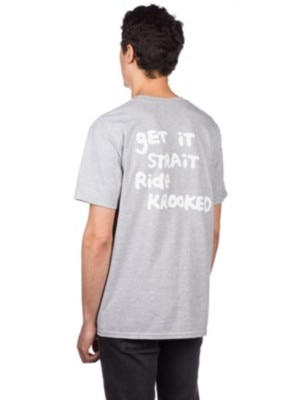 Krooked Fly Strait T-Shrit athletic heather Miehet