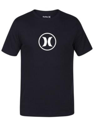 Hurley Dri-Fit Circle Icon T-Shirt black pure platinum Miehet