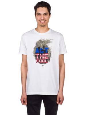 Iriedaily Act The Fool T-Shirt white Miehet