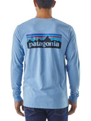 Patagonia P-6 Logo Responsibili T-Shirt LS railroad blue Miehet