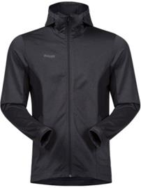 Bergans Lom Fleece Hooded Outdoor Jacket solidcharcoal / black / solid Miehet