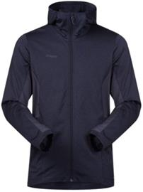 Bergans Lom Fleece Hooded Outdoor Jacket dk navy / nightblue Miehet
